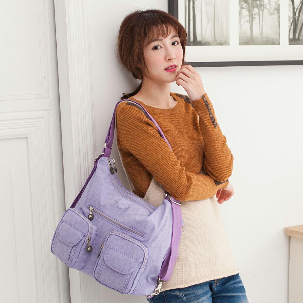 【TOPMAST毛線貓】樂活防水三用包#1503 粉嫩紫