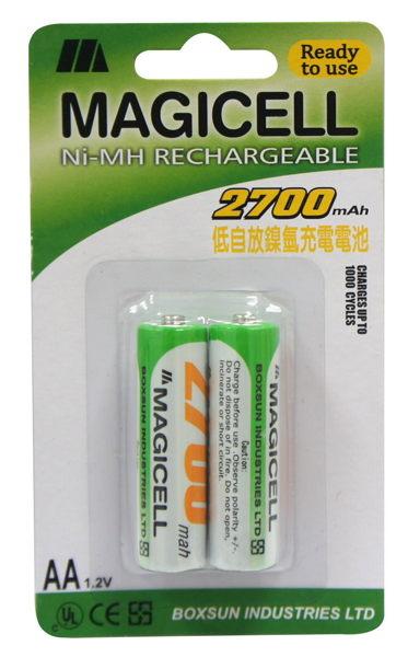 低自放鎳氫充電電池3號^(2入^)