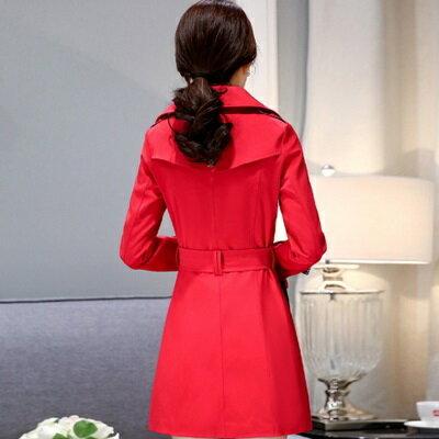 風衣外套翻領大衣-時尚氣質顯瘦中長款女外套4色73iz24【獨家進口】【米蘭精品】