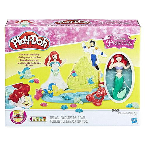 《Play-Doh培樂多》艾莉兒的海底婚禮遊戲組