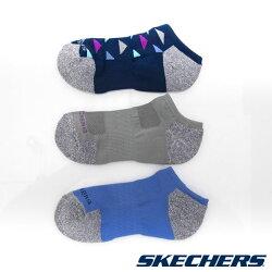 SKECHERS(女) 運動踝襪 一組三雙 海軍藍x灰x藍 - S108798-460