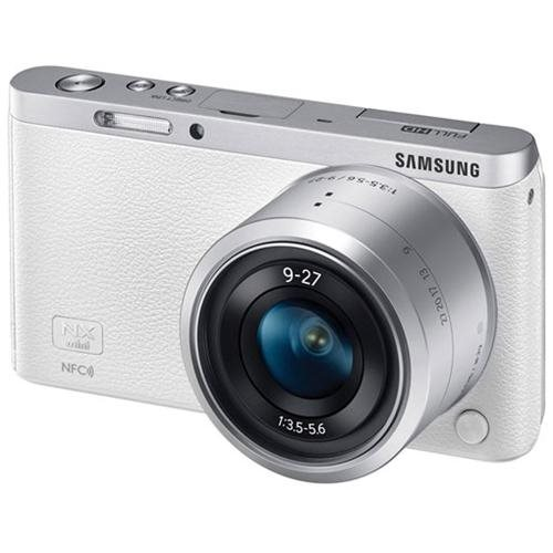 "Samsung NXF1 20.5 Megapixel Mirrorless Camera with Lens - 9 mm - 27 mm - White - 3"" Touchscreen LCD - 16:9 - 3x Optical Zoom - Optical (IS) - 5472 x 3648 Image - 1920 x 1080 Video - HDMI - HD Movie Mode - Wireless LAN 1"