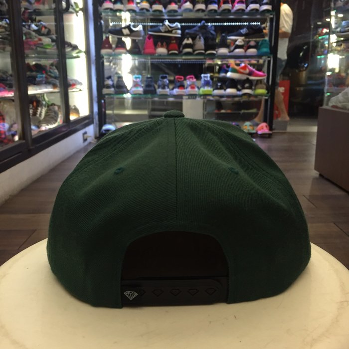 BEETLE PLUS 西門町 全新 DIAMOND SUPPLY CHAMPAGNE GREEN CAP 軍綠 繡字 帽 D14DHA18GRN DA-18 2