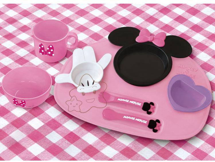 【大成婦嬰】日本超人氣 Disney 米奇、米妮多功能餐盤組 (豪華款)1組 0