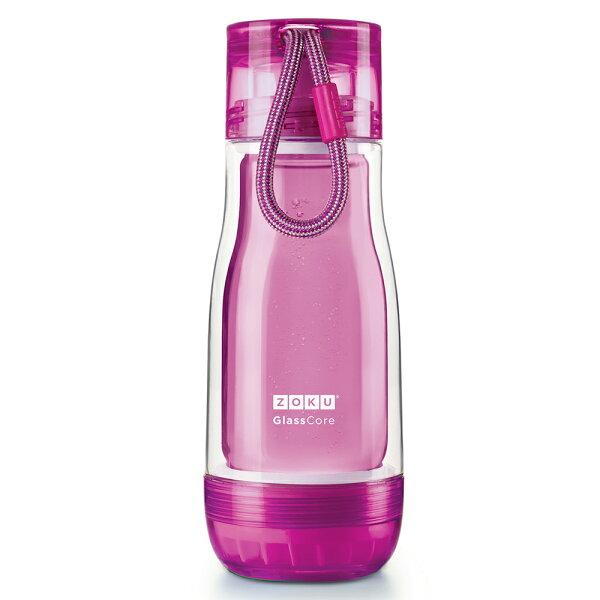 【麗嬰房】ZOKU繽紛玻璃雙層隨身瓶-355ml(紫色)