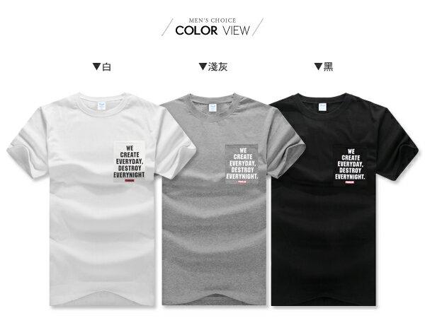 ☆BOY-2☆【PPK82127】美式口袋英文素面休閒短袖T恤 1