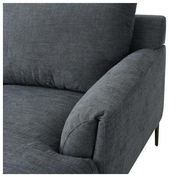 ◎布質左躺椅L型沙發 KF2037 DGY NITORI宜得利家居 5