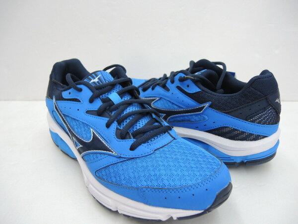 美津濃MIZUNO男慢跑鞋WAVESURGE(藍)避震平行波浪片鞋款J1GC171318【胖媛的店】