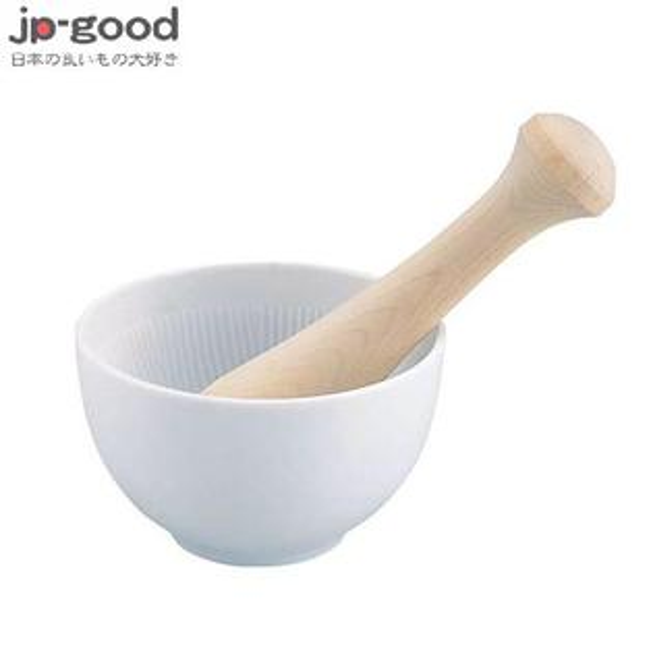 KAI貝印白瓷研磨缽+杵
