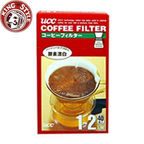 金時代書香咖啡【UCC】酸素漂白濾紙 CF-1 //1~2人用 (40枚入)