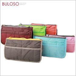 《不囉唆》6色韓式包中包/防水雙拉鍊雙層超大加厚手提式袋中袋收納包(不挑色/款)【A268417】