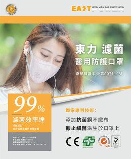 《口罩》東力EASTPOWER濾菌醫用防護口罩-包3入裝、盒10包入