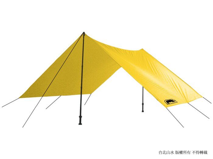 RHINO炊事帳/露營帳篷/露營用品 F01 1-2人輕量雨蓋/外帳天幕/地布 附營釘營繩 米卡其