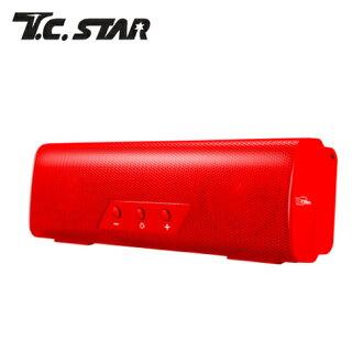 T.C.STAR TCS1010 行動MOVE無線藍芽喇叭 紅【三井3C】