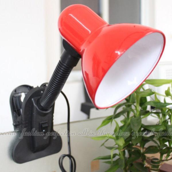 夾式檯燈 護眼夾燈 夾子護眼檯燈 軟式夾燈 台燈 E27頭 螺旋燈泡可用【DK450】◎123便利屋◎