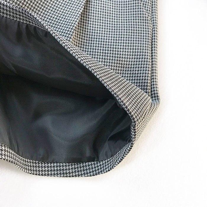 短褲 格紋 圓環 壓摺 後拉鍊 寬管褲 百搭 短褲【HA849】 BOBI  02 / 14 6