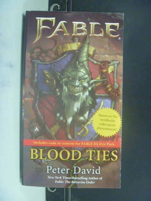 ~書寶 書T9/原文小說_GSS~Blood Ties_Peter Allen David