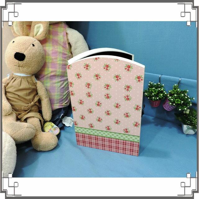 皮革KEY BOX《LK7-1》滿版玫瑰木製皮革鑰匙盒 收納盒 壁櫃 壁飾 鄉村風家飾◤彩虹森林◥