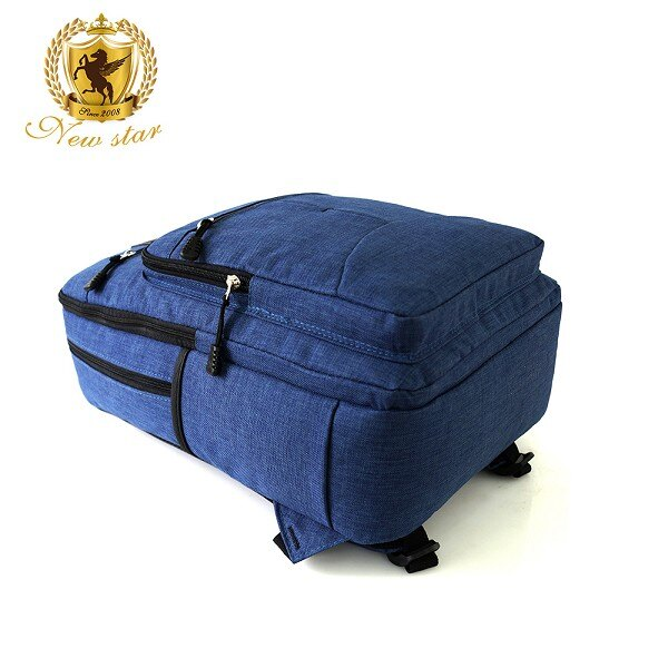 韓風簡約時尚防水雙層拉鍊多口袋後背包包 NEW STAR BK244 5