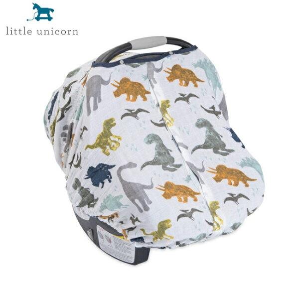 美國【LittleUnicorn】純棉紗布提籃罩-恐龍世界