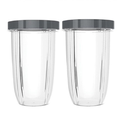 Blendin 2 Pack Extra Large Colossal 32 Ounce Cup with Lip Rings, Fits Nutribullet Blenders db63a91ea50aa35ae61d342781243d6c