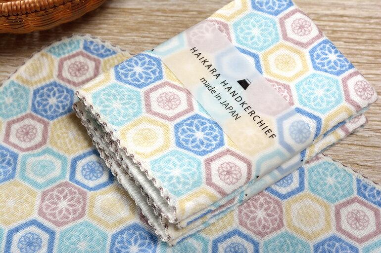 日本今治 - KONTEX - Haikara kikko方巾(藍)《日本設計製造》《全館免運費》,生產階段亦無使用任何藥劑、無漂白、無染色,採用最純淨的有機棉製作最天然安心的產品。