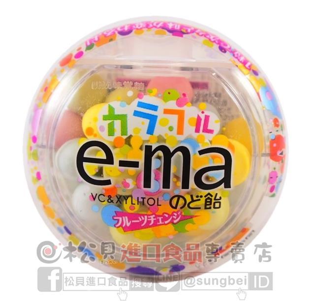 《松貝》味覺e-ma綜合水果喉糖罐33g【4514062257334】cc11