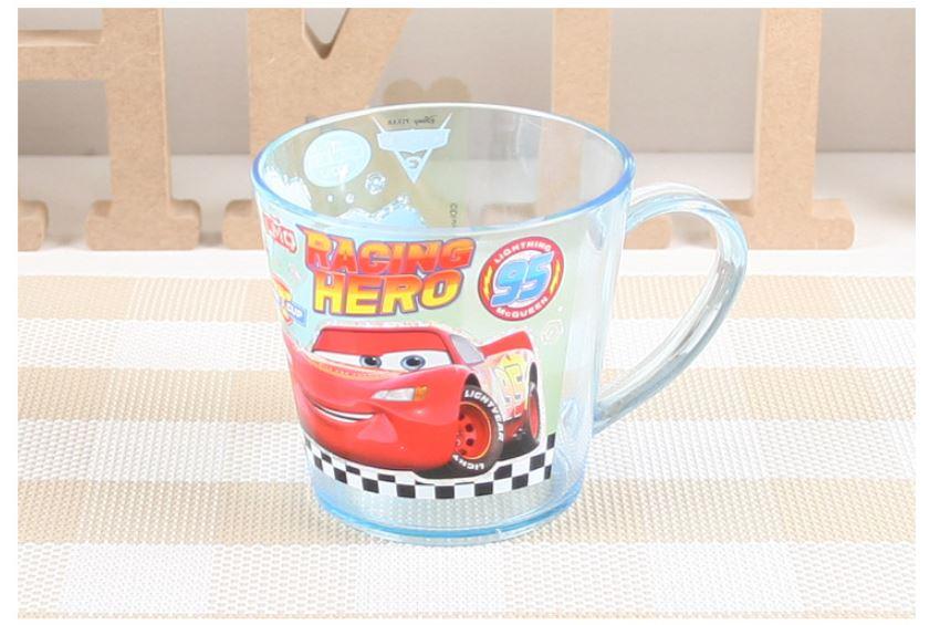X射線【C069124】閃電麥坤Cars 塑膠水杯230ml,水杯/馬克杯/杯瓶/茶具/湯杯/玻璃杯/不鏽鋼杯