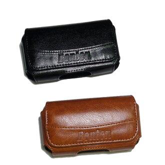 UNISCOPE W108/ BLUESTAR V398直立手機--通用型腰掛橫式皮套