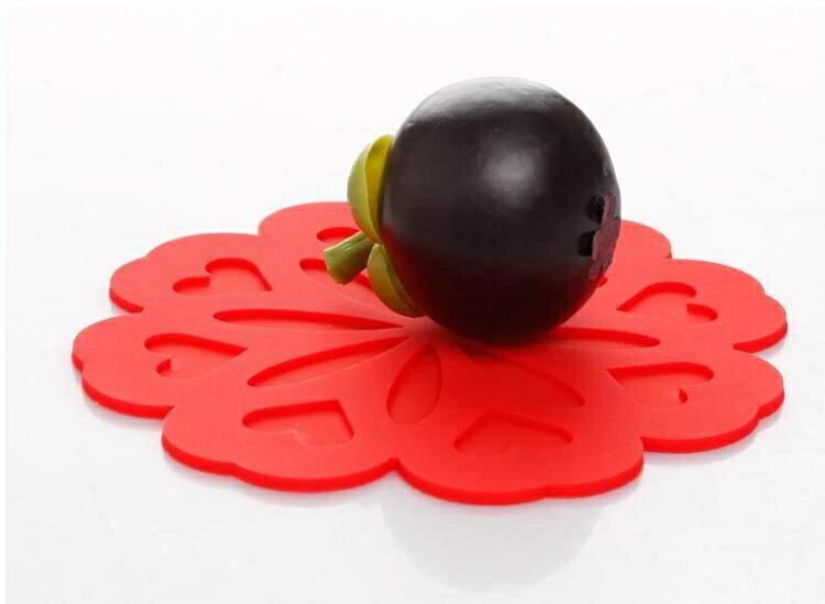 創意環保硅膠桃花朵隔熱墊 盤墊碗墊杯墊花盆墊西餐墊鍋墊餐桌墊