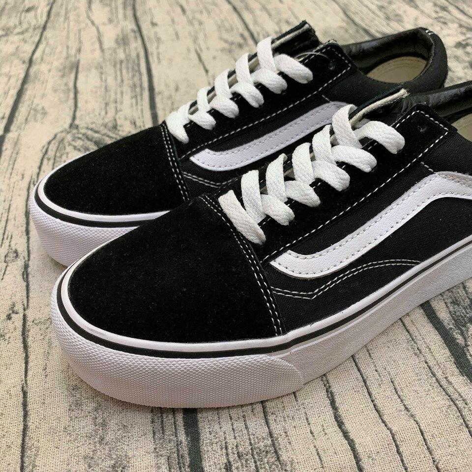 免運-DTK-實體店面Vans Old Skool 黑白 基本款 滑板鞋 麂皮 帆布鞋 黑底白線 vans基本款 百搭 男女款 情侶鞋