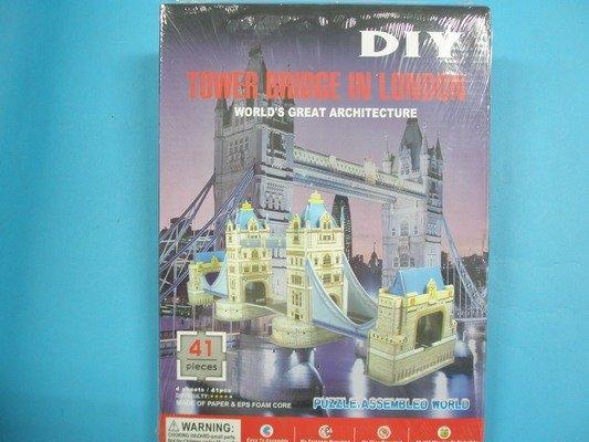DIY珍珠板拼圖 3D立體拼圖珍珠板拼圖-3312英國倫敦大橋/一組入{定99}