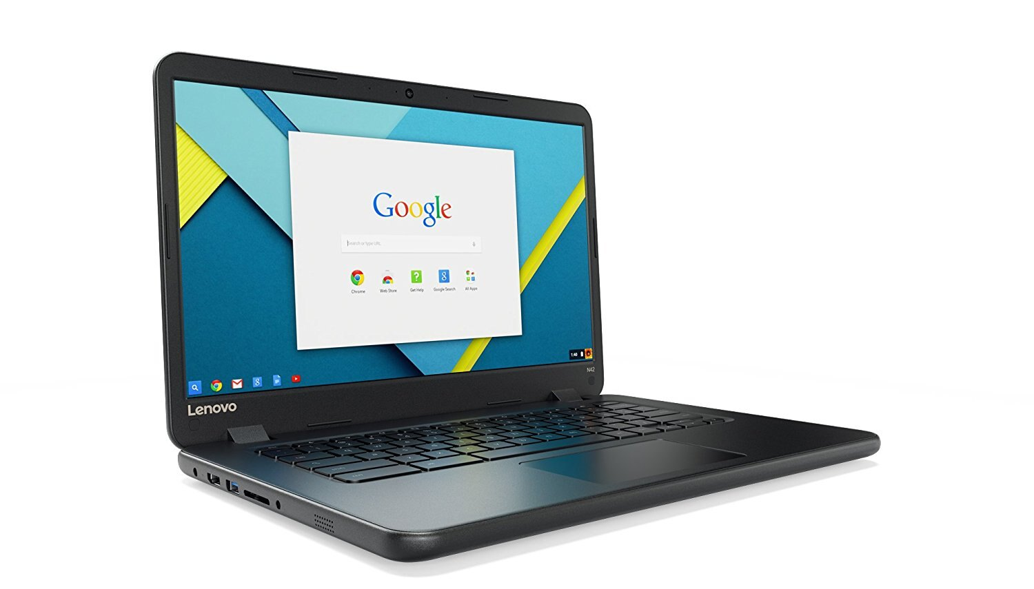 "Lenovo 14"" IdeaPad N42-20 Chromebook, Intel N3060 Dual-Core, 16GB eMMC SSD, 4GB DDR3, 802.11ac, Bluetooth, ChromeOS 0"