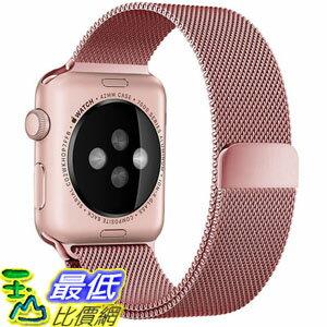 [美國直購] Penom Apple RP-band2-RG2 watch Band 38mm mesh Loop w Strong Magnetic Milanese a Rose Gold 錶帶