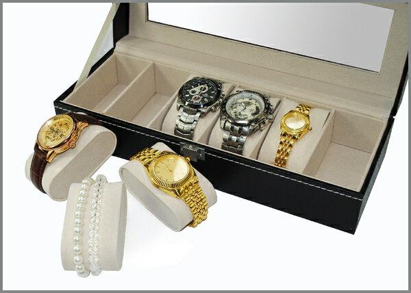 高檔豪華開窗6格手錶盒
