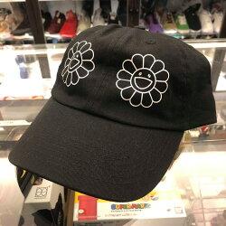展場限定 現貨 BEETLE 2018 村上隆 CAP 黑色 花朵 LOGO 經典 老帽 棒球帽 可調式 男女款