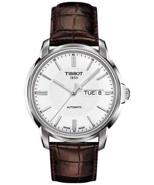 TISSOT天梭T0654301603100  時尚經典機械腕錶/白面39.7mm