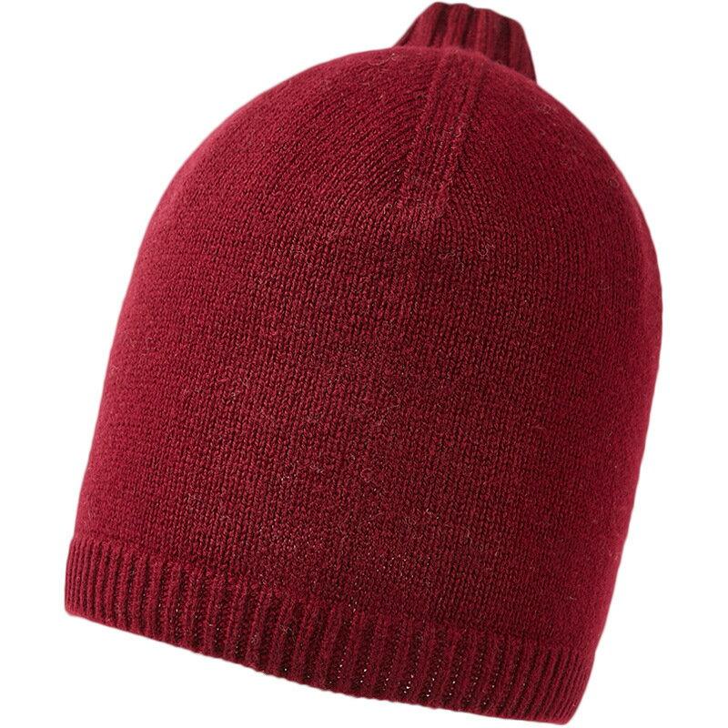 毛帽羊毛針織帽-純色捲邊護耳套頭男帽子4色73wj33【獨家進口】【米蘭精品】 0