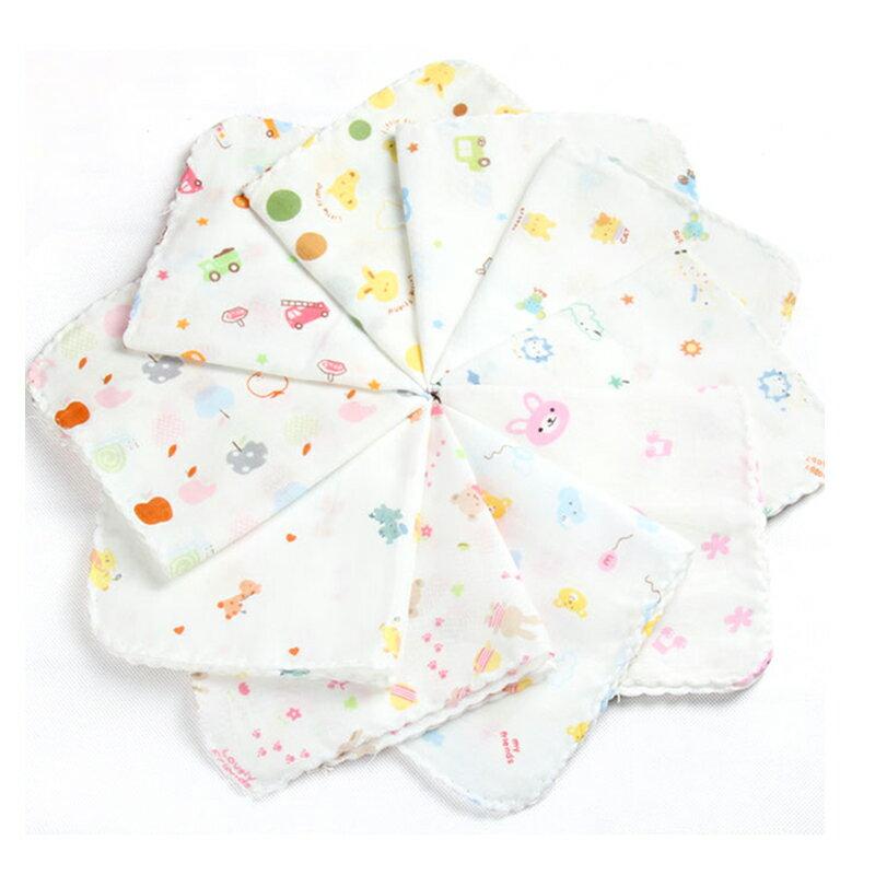 紗布巾 透氣吸水嬰兒紗布口水巾 紗布手帕(8條裝)  RA0150 【SGS檢驗合格】 好娃娃 1