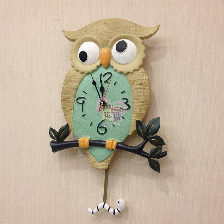 樹脂貓頭鷹搖擺掛鐘, 裝上電池下方小蟲會搖擺 掃描式靜音機芯