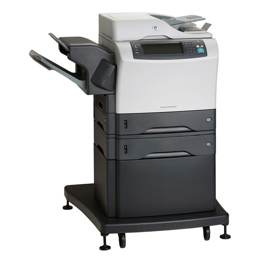 HP LaserJet M4345XS Laser Multifunction Printer - Monochrome - Plain Paper Print - Floor Standing - Copier/Fax/Printer/Scanner - 45 ppm Mono Print - 1200 x 1200 dpi Print - Automatic Duplex Print - 45 cpm Mono Copy - 2 x Input Tray 500 Sheet, 1 x Automati 0