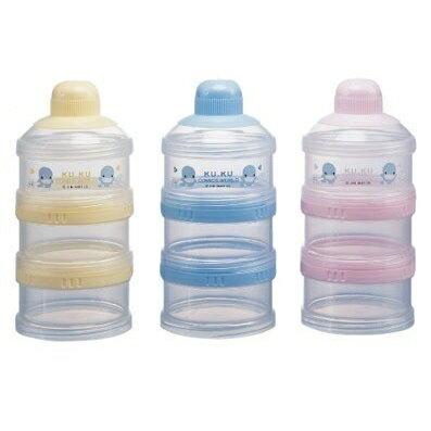 【全系列滿$500送夜燈玩具】台灣【Kuku 酷咕鴨】三層小奶粉罐 - 限時優惠好康折扣