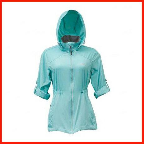 女抗UV單層風衣 綠湖藍 3455 - 限時優惠好康折扣