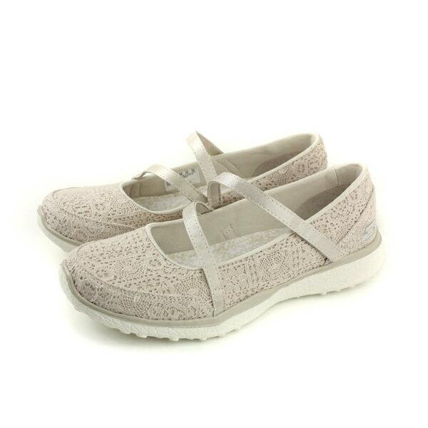 SKECHERS娃娃鞋休閒鞋女鞋米色23343NATno797