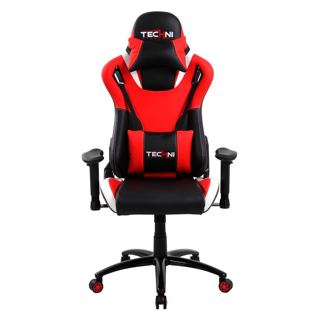 Techni Sport TS80 Red / Black Reclining GAMING CHAIR For Comfortable  Extended Play Times   Sport