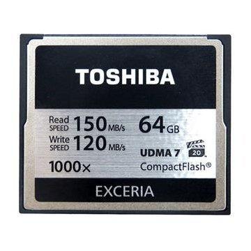 【新風尚潮流】 TOSHIBA 64G 64GB 1000X 讀150寫120 CF 記憶卡 CF-064GTR8A
