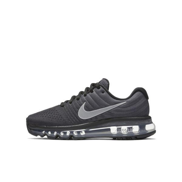 Nike AIR MAX 2017 GS 女鞋 大童鞋 慢跑 全氣墊 LOGO反光 黑灰 【運動世界】 851622-001