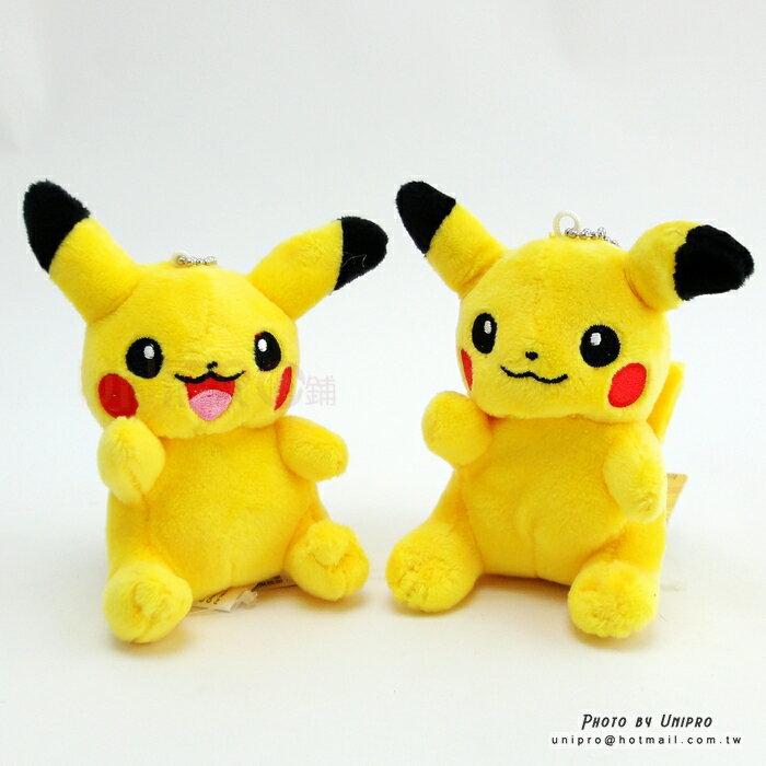 ~UNIPRO~神奇寶貝 皮卡丘 Pikachu 9公分 珠鍊吊飾 絨毛娃娃 玩偶 Pok