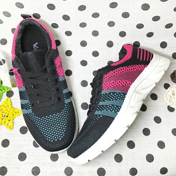 【限量優惠】女款編織透氣運動休閒鞋[3509]黑超值價$200