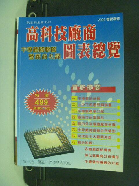 【書寶二手書T2/股票_NII】高科技廠商圖表總覽_半導體關聯圖_2004年
